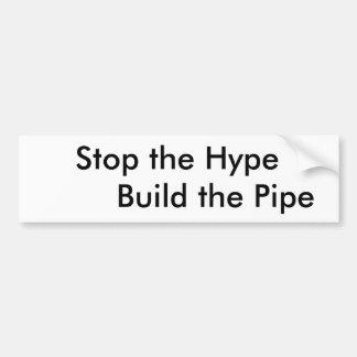Edificio favorable del tubo pegatina para auto