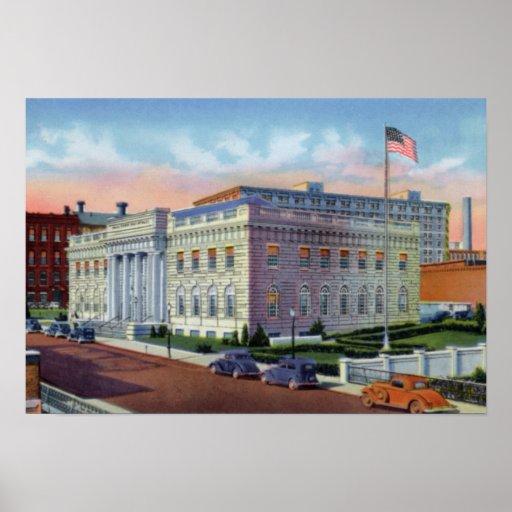 Edificio federal de Lowell Massachusetts Poster