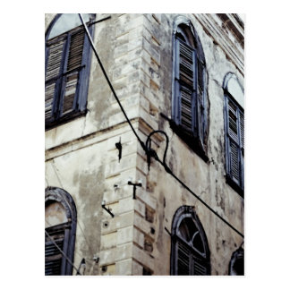Edificio griego/del Cretan típico Tarjetas Postales