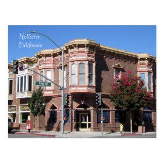 Edificio histórico de Hollister CA en 5to y San Be Postales