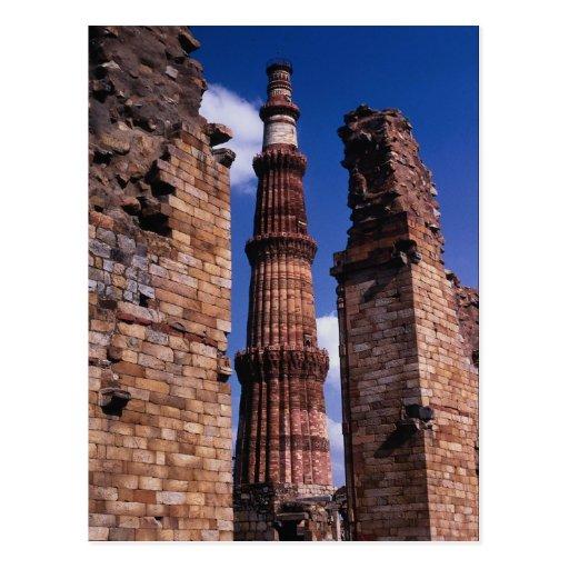 Edificio histórico, Qutab Minar, Delphi, Grecia Tarjetas Postales