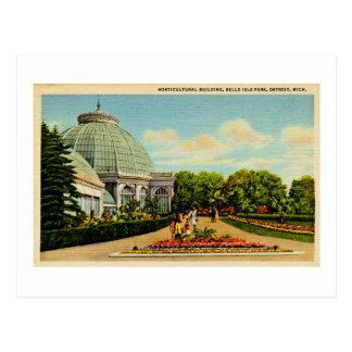 Edificio hortícola, parque de la isla de la postal