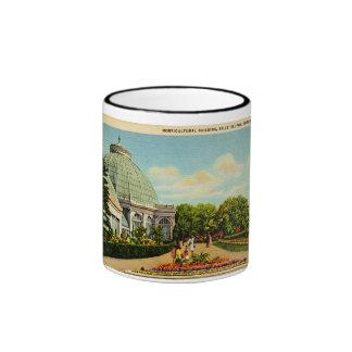 Edificio hortícola, parque de la isla de la taza de dos colores