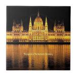 Edificio húngaro del parlamento azulejo cerámica