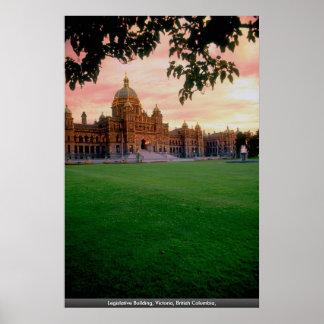 Edificio legislativo, Victoria, Columbia Británica Poster