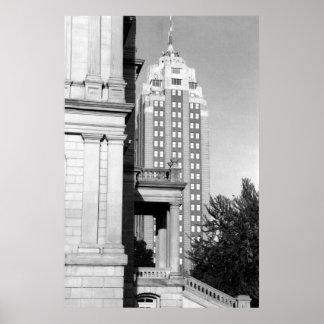 Edificio nacional de Michigan Póster