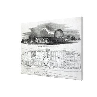 Edificio para la gran exposición industrial impresion en lona