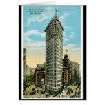 Edificio plano del hierro. Broadway y quinta aveni Tarjeta De Felicitación