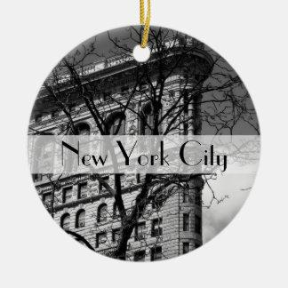 Edificio plano del hierro de NYC Ornamento Para Reyes Magos
