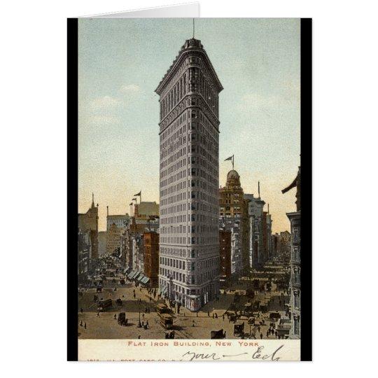 Edificio plano del hierro, vintage 1918 de New Tarjeta De Felicitación