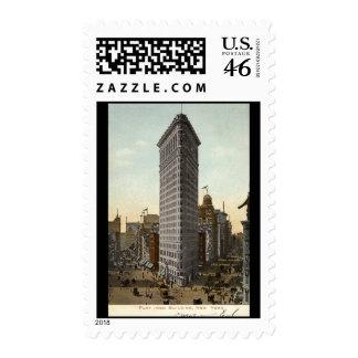 Edificio plano del hierro, vintage 1918 de New Yor Sellos