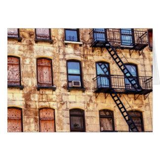 Edificio rústico de Nueva York Felicitaciones