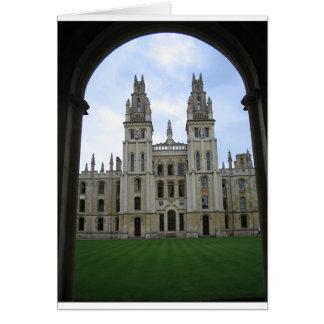 Edificio simétrico en Inglaterra Tarjeta De Felicitación