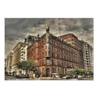 Edificio urbano fantasmagórico en Washington DC cé Fotografías