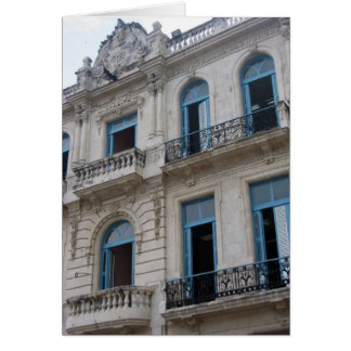 edificio viejo de La Habana Tarjeta De Felicitación