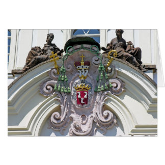 Edificio viejo de Praga de la ciudad (ascendentes  Tarjeta De Felicitación