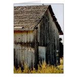 Edificio viejo rústico tarjeta