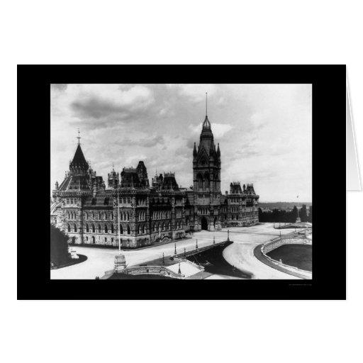 Edificios 1922 del parlamento de Ottawa Canadá Tarjetón