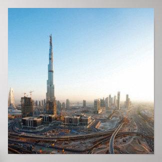 Edificios a lo largo de jeque Zayed Road, Dubai 2 Póster