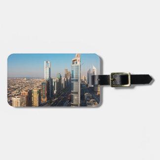 Edificios a lo largo de jeque Zayed Road, Dubai Etiqueta Para Maleta
