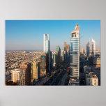 Edificios a lo largo de jeque Zayed Road, Dubai Impresiones