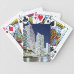 Edificios a lo largo del río Riverwalk de Miami Cartas De Juego