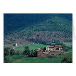 Edificios agrícolas, Lentiourel, Francia en Europa Tarjeta De Felicitación