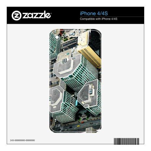 Edificios altos calcomanías para el iPhone 4