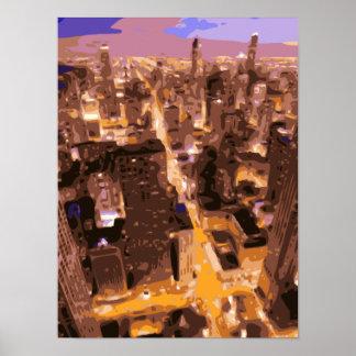 Edificios altos y gloriosos de Apple grande Poster