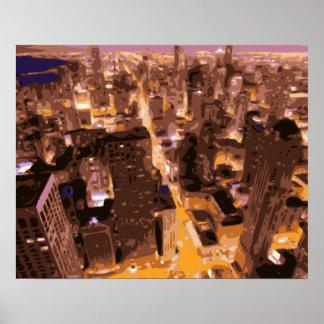 Edificios altos y gloriosos de Apple grande Posters