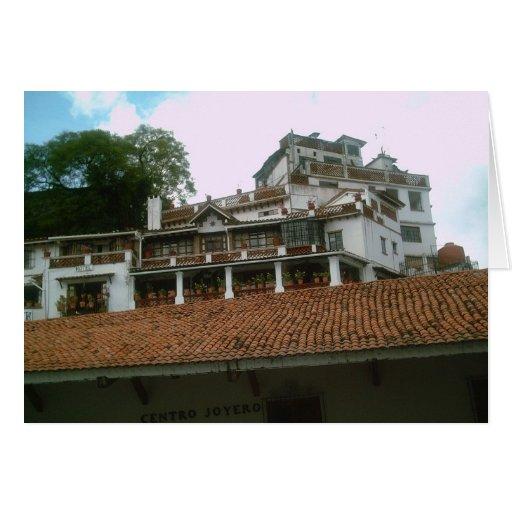 Edificios bonitos en Taxco Tarjeta De Felicitación