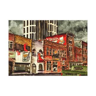 Edificios céntricos de la ciudad de Nashville Tenn Impresión En Lienzo