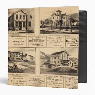 """Edificios, ciudad del aceite, Franklin, granja de Carpeta 1 1/2"""""""