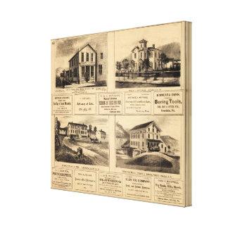 Edificios, ciudad del aceite, Franklin, granja de  Impresiones En Lona Estiradas