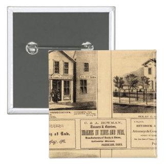 Edificios, ciudad del aceite, Franklin, granja de  Pin Cuadrado