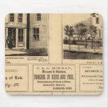 Edificios, ciudad del aceite, Franklin, granja de  Tapetes De Ratones