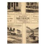 Edificios, ciudad del aceite, Franklin, granja de  Tarjetas Postales