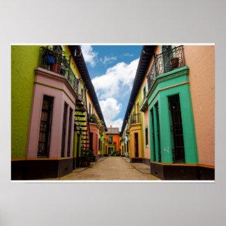 Edificios coloridos históricos poster