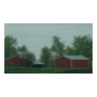 Edificios de Farme en la lluvia Tarjetas De Visita