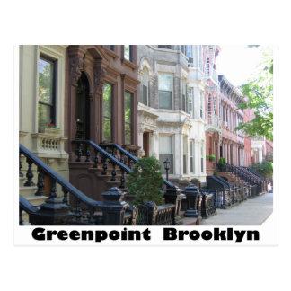 Edificios de la arenisca de color oscuro de Greenp Tarjeta Postal