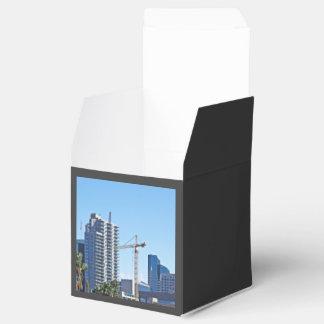 Edificios de la ciudad cajas para regalos