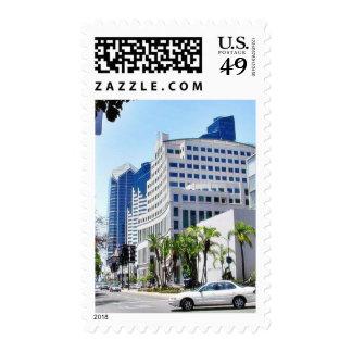 Edificios de la ciudad de la calle del tribunal sello