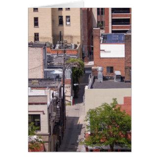 Edificios de ladrillo en Ann Arbor Tarjeta De Felicitación