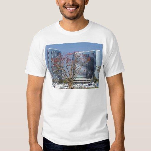 Edificios de los árboles de los barcos de los camisas