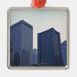 Edificios de oficinas en Chicago céntrica, Adorno Navideño Cuadrado De Metal