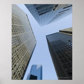 Edificios de oficinas en Lower Manhattan Póster