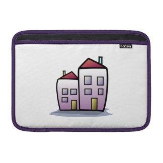 Edificios del dibujo animado funda  MacBook