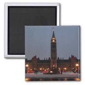 Edificios del parlamento, Ottawa Imán Cuadrado
