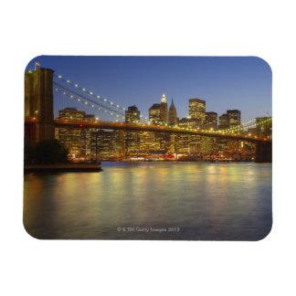Edificios del puente y de New York City de Brookly Imanes Flexibles