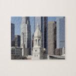 Edificios del rascacielos de Los Ángeles en el med Puzzle Con Fotos